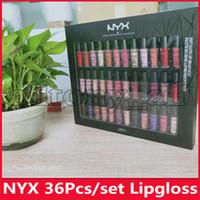 NYX Maquillage 36pcs de LIP CREAM 36PCS NYX Rouge à lèvres Lip Gloss mat doux velours fading Non Maquillage 36 couleurs de jeu