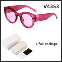 Новые дамы дизайнер женских солнцезащитных очков UV400 тенденция 4353 бренда очки 5 цветов с коробкой бесплатной доставкой
