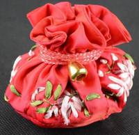 Лента вышивка шнурок ведро мешок ювелирные изделия подарочные пакеты мульти 8 карманное кольцо клатч китайский ремесло атласная ткань сумка для хранения 2 шт. / лот