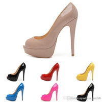 Lady Peep Open Red Toe Pumps 14CM Platform Shoes Women Sexy ...