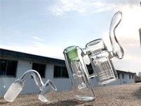 N. narghilè Nuovo doppio circolazione del tubo di vetro del tubo dell'acqua del tubo del tubo 6 braccio Perc Percolator Bubbler DAB Rigs Bongs Joint 18.8mm
