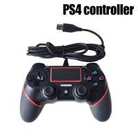 واحد من قطعة USB السلكية تحكم جيم ب لPS4 لعبة وحدة تحكم الاهتزاز السلكية المقود لبلاي ستيشن وحدة التحكم 4 اعبين ليس لاسلكية