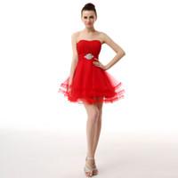 Strapless Homecoming Dress Tulle Skirt 망가진 몸집이 짧은 댄스 파티 드레스 짧은 공식 파티 드레스 Custom Made Promown 가운 SH0004