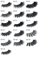 20 pairs 17style 3d Mink Hair Fake Eyelash 100% Thick real m...