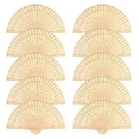 Китайский сандал ароматических Деревянных Ажурные Личные ручной складные веера для украшения свадьбы, дня рождения, подарки дома (50 Pack)