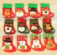 Medias de Navidad Decoraciones Santa Claus Calcetines Regalo Niños Bolsa de Dulces Árbol de Navidad Colgante Calcetines Stocking Ornamento de Navidad