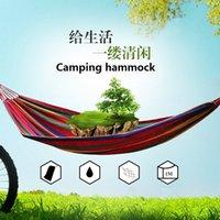 1 conjunto frete grátis portátil 120 kg de carga ao ar livre jardim Hammock Hang cama de viagem de acampamento de sobrevivência sobrevivência ao ar livre (280 * 150 centímetros)