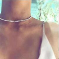 Boho Strass-Halskette für Frauen Fashion Statement Schmuck Accessoires Temperament-Kragen-Halskette Geburtstags-Geschenk-Großverkauf DHL