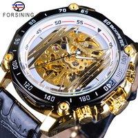 새로운 골든 브리지 디자인 장비 운동 안에 오픈 작업 Steampunk Mens 시계 탑 브랜드 럭셔리 기계 손목 시계