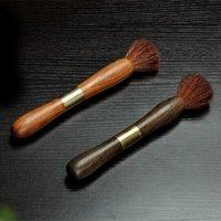 Natural de té de madera Conjuntos de cepillo de Kungfu tetera de té bandeja de limpieza Herramientas inoxidable Puerh aguja cortante Accesorios-Dos en Uno Preferencia