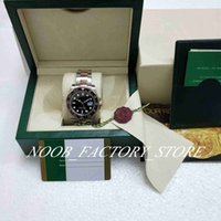 2018 nuevo estilo reloj de lujo reloj hombres 40mm rosa oro gmt II negro-marrón bezel eta 2813 movimiento automático hombre reloj original caja original