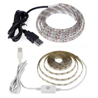 USB LED Strip Lights 1M 2M 3M 4M 5m À Prova D 'Água Dimmable LED Luz tiras SMD2835 Cool White White Branco Luz Flexível