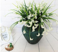 mini artificial calla with leaf silk fake lily Aquatic plant...