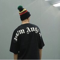 2019 Best Fashion Palm Angels Oversize T Shirt Hip Hop Solid...