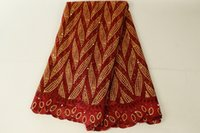 Бордовый кружевной ткани бисером Африканский кружевной ткани качество вышитые кружевной ткани для Нигерии платья выпускного вечера BF0003