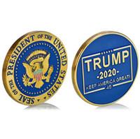 도널드 트럼프 (Donald Trump) 2020 금 도금 동전 - 자유 주의자들이 다시 기려 함 기념 동전 배지 토큰 크래프트 컬렉션