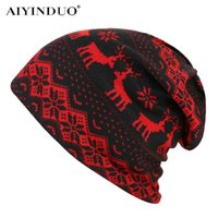 AIYINDUO new arive deer print fashion beanies for men women ...