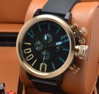 Fabrika Tedarikçi Yeni 18k Rose Gold Classico U-1001 Siyah Dial Otomatik Mekanik Erkek İzle Siyah Kauçuk Kayış Erkek saatı