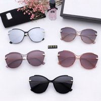 Ladies designer brand cc sunglasses polarized sunglasses polaroid hd lens flat panel design fashion trend 5 colors to choose