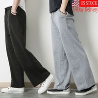 Unisex Mens Womens Sweatpants Fleece Workout Pants Elastic W...