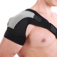 Поддержка задней поддержки Плечо Brace Одиночные защитные половки ремня Регулируемая дышащая спортивная уход за защитой