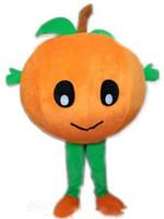 2020 Fabrikverkauf heiß Big Baby orange-Maskottchen-Kostüm-Qualitäts-Tangerinefrucht Cartoon Anime Thema Charakter Weihnachten Karneval-Party