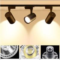 COB faixa luz 12W 20W 30W Rail Lamp Iluminação interna AC 220V Ângulo ajustável Spotlight loja de roupa Sala de Vestir