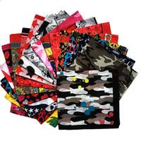 hip hop drapeau national carré écharpe en plein air coiffe équitation carré écharpe multi-fonctionnelle rue de danse Euro écharpe Bandanas masques C065-5
