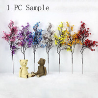 7 Renk Yapay Kiraz Çiçeği DIY Yıldızlı Düğün Dekorasyon Ev Buket Şube Sahte Çiçek Ücretsiz Kargo XD23019