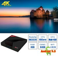 2019 Android 9.0 TV BOX X88MAX Plus ROM 4 Go de RAM 64 Go de ROM RK3328 Lecteur multimédia intelligent Wifi Dual Wifi 4K / 5G