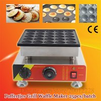 Elektrikli 25 adet Poffertjes Mini Hollanda Gözleme Makinesi Makinesi Poffertjes Waffle Baker Demir Izgara Yapışmaz Pan CE Onay Yepyeni