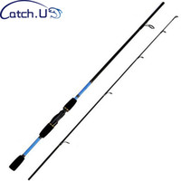 1.8M Cannes À Pêche En Carbone Spinning Fishing Pole Spinning Rod 2 Section Casting Casting Pole