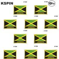 이전에 톱에 자메이카 플래그 자수 패치 철 HomeGarden에서 의류 재봉 응용 프로그램 패치