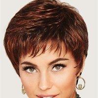 Рождественские подарки Новые горячие продавая женские парики, мода реалистичной Коротких вьющихся волос синтетической коса волосы