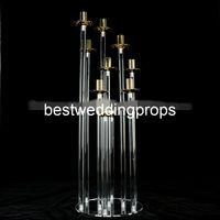 Nouveau style colonnes de piliers de mariage à vendre, piliers décoratifs pour les maisons, piliers de cristal de mariage best01153