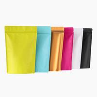 Красочные матовые стоять на молнии замок Mylar упаковочные сумки алюминиевая фольга молния стоящая еда сумка для закусок с слезом