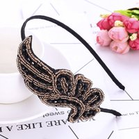 1Pcs Women' s Black Crystal Rhinestone Hair Band Solid S...