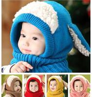 Baby-Winter-Häkelarbeit-warme Hut-Kappen-Mädchen-Kind-nette handgemachte Knit-Häkelarbeit-Wollgarnkappen nette Hundeformohrwärmer-Schalhüte