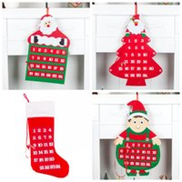 Christmas House Pendant Count Down Calendário do advento do Natal Porta Calendário multi Forma de suspensão Decore Fashion Design Hot Sale 17yhH1