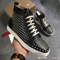 Top version Christi Loubou New Spikes Flat High Top Sneakers...