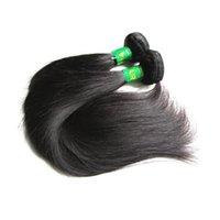Guangzhou Hair Shop Sale 9A Vierge indienne Soie droite 3pcs 300g Lot Non transformé Remy Human Cheveux Bundles Tissage Couleur naturelle