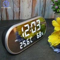 LED Digital Alarm Clock With Temperature Reveil Watch USB El...