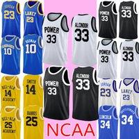 NCAA 33 Lew Alcindor Джерси Дешевые Магия 33 Johnson College Баскетбол Джерси Сшитые Логотипы S-XXL Черный Белый 999