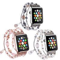 Apple Watch Series 1 2 3 4 5ファッションストラップのための女性ジュエリーの腕時計の腕時計のバンド38mm 40mm 42mm 44mm織りバンド