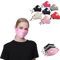 Face Mask With Valve PM2. 5 Cotton Dust Mask Washable Mouth M...