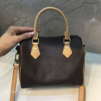 Effinin Mini Boston Bag Women Small Hombro Bolso Señoras Real Cowhide High Qulity Handbag 40394 Crossbody Bolsas de asas