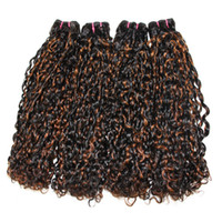 Dilys Hair Double Drawn Pissy Curly Hair Bundles Mixed Color...