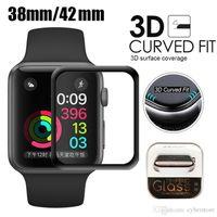 Cyberstor für Apple-Uhr 3D Full Coverage Ausgeglichenes Glas Screen Protector 42/38 / 44mm Anti-Scratch-Blase-Free For iWatch 1/2/3/4