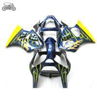 Injection fairings Kit für Kawasaki Ninja ZX6R 2000 2001 2002 gelb blau Motorrad Verkleidung Kit 636 00-02 ZX6R 00 01 02 ZX 6R