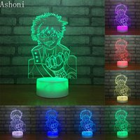 My Hero Academia Midoriya Izuku 3D Table Lamp Touch Control ...
